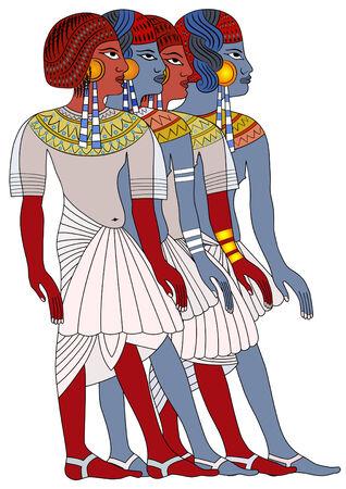 Mujeres del antiguo Egipto  Ilustración de vector