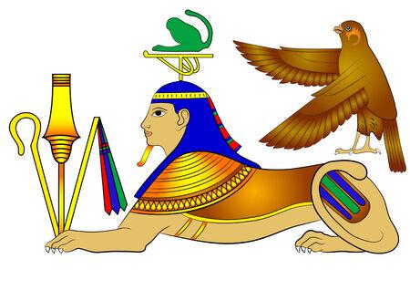 sphinx: Sphinx - creatura mitica dell'antico Egitto Vettoriali
