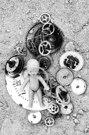 metaphorical: Abstract image - child in the time