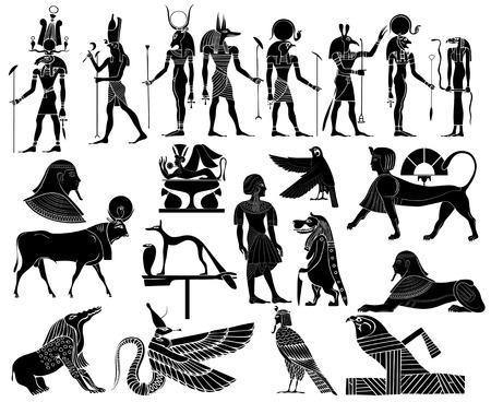 Vecteur - divers thèmes de l'Egypte ancienne Banque d'images - 7803358