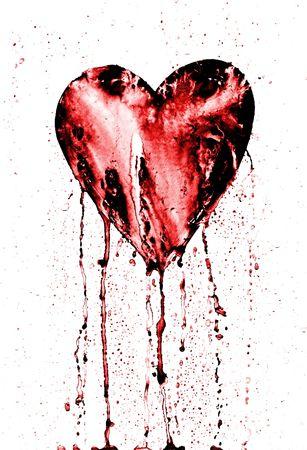 Herz - Symbol der Liebe - im Grunge Stil Blutungen