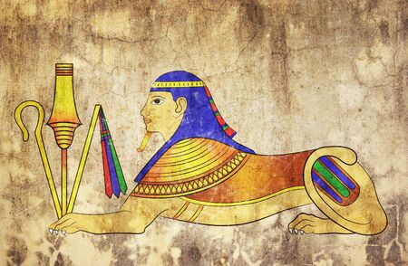 Sphinx - mythical creature of ancient Egypt photo