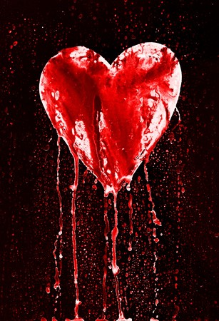 sad love: bleeding heart - symbol of love