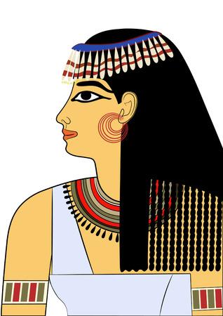 Vrouw van het oude Egypte  Stock Illustratie