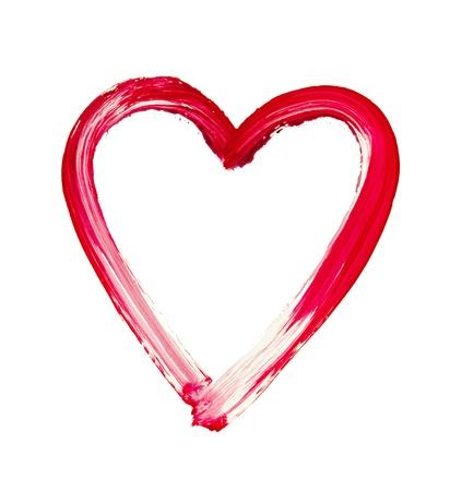 lovingly: painted heart - symbol of love