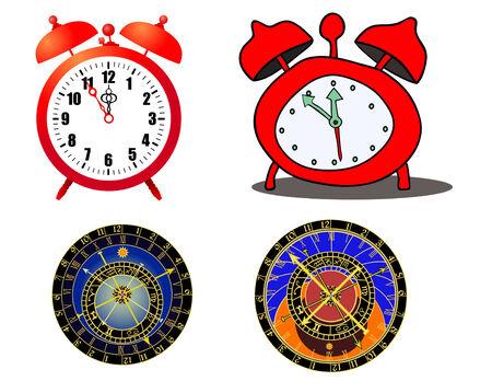 Various alaramclock and astronomical clock Vector