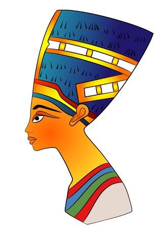 antique woman: cabeza de la reina del antiguo Egipto