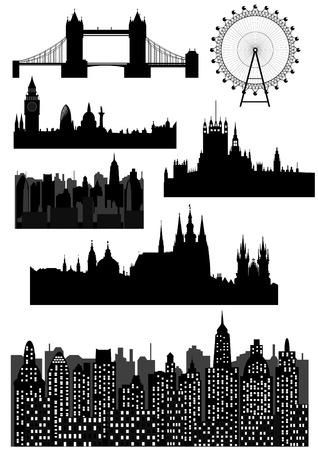 Famous architectural monuments  Vector