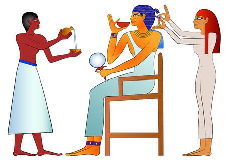 Coiffeur de l'Egypte ancienne Banque d'images - 8519094