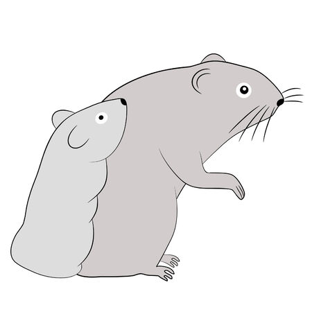 old mouse and baby mouse Vector