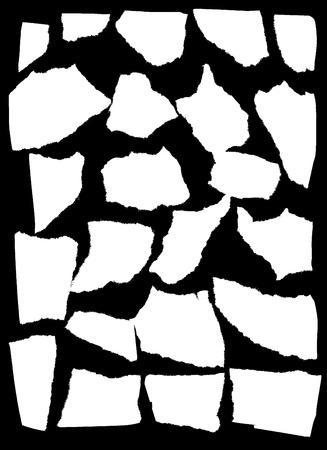 smashed paper: Vector mask looks like tattered paper Illustration