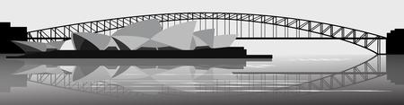 sydney skyline: Sydney skyline - Vector Illustration