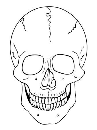 smiling skull - vector - warning symbol 向量圖像