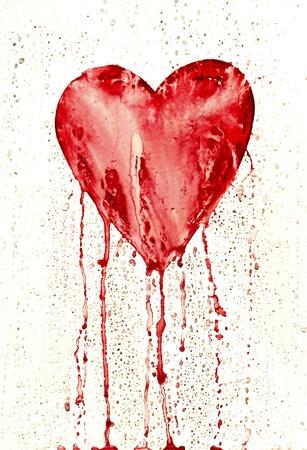 hemorragias: coraz�n de sangrado Foto de archivo