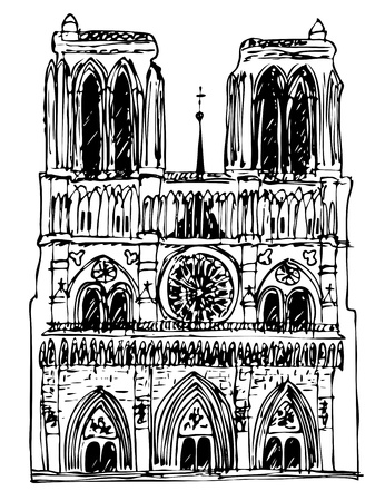 basiliek Notre Dame Stock Illustratie