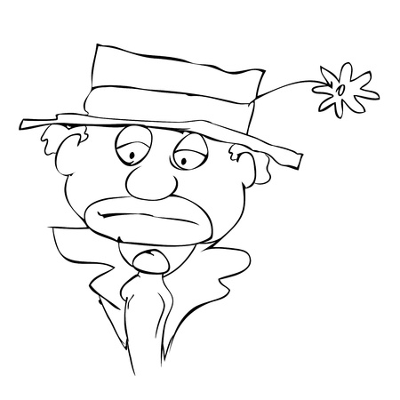mournful clown - sad face - vector Stock Vector - 9307438