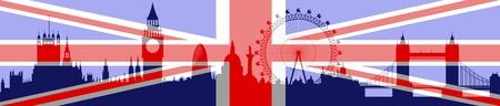 Skyline de Londres avec indicateur Banque d'images - 9464161