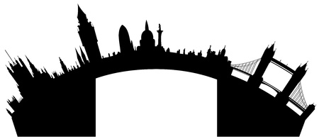 emblematic: London skyline - vector