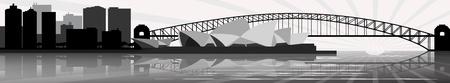Skyline van Sydney Stock Illustratie