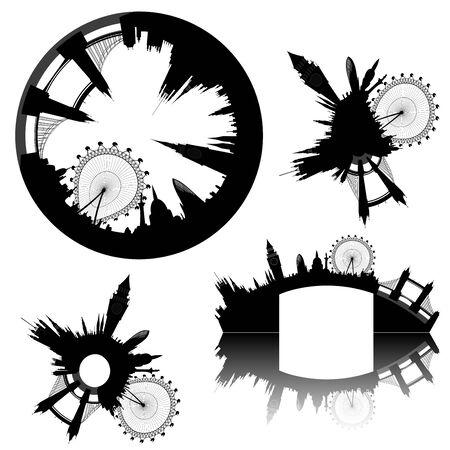 various London skylines - vector Stock Vector - 9502859