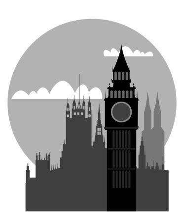London - Big Ben Stock Vector - 9548643