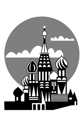 Russian Orthodox churches - Moscow  Stock Vector - 9548641