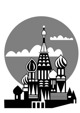 Russisch-Orthodoxe Kirchen - Moskau  Illustration