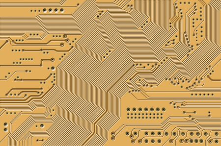 manipulated: printed circuit - motherboard - technology abstract