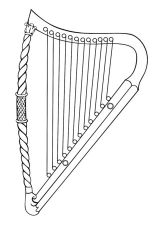 Irish harp from 12-th century
