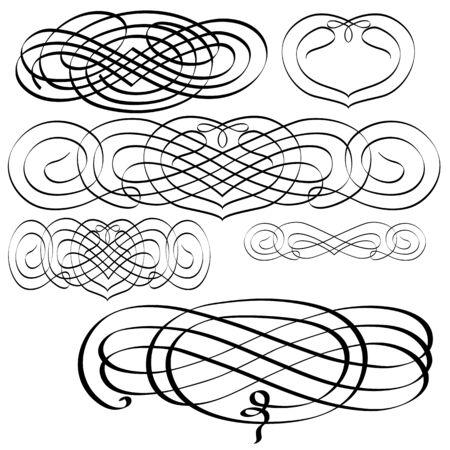 penmanship: various ornaments - ornamental decoration