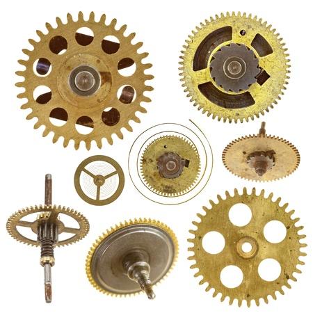 ruedas dentadas - engranajes - sobre fondo blanco