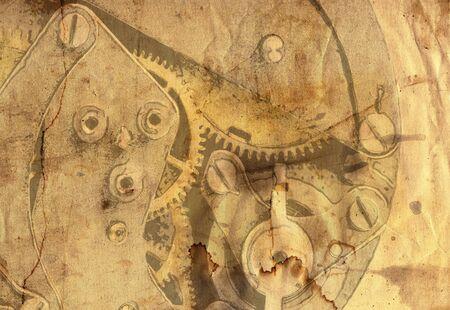 spat: Clockwork mechanism in grunge style