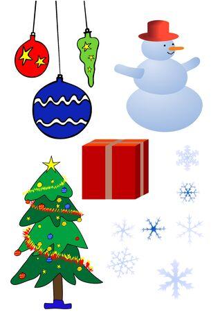 glorification: various Christmas design elements