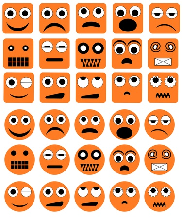 teasing: Set of the various emotion icons Illustration