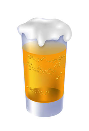 tipple: glass of beer