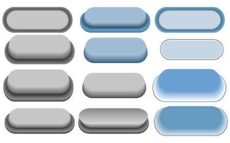 vector buttons - plastic buttons - website navigation Vector