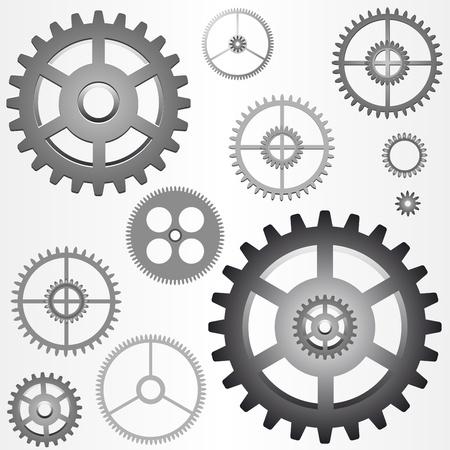verschillende versnellingen - tandwielen - vector Stock Illustratie