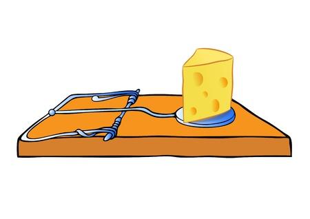 mousetrap: trappola per topi vettore con formaggio