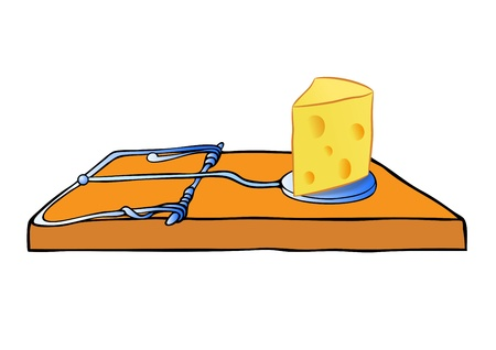 vector mousetrap with cheese