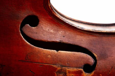 stringed: Abstract detail of the old fiddle - G clef