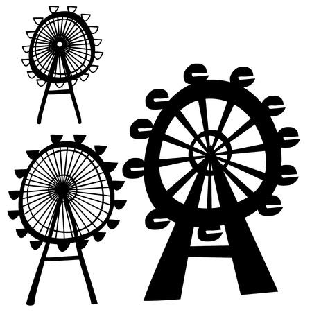 ferris wheel: vector ferris wheel