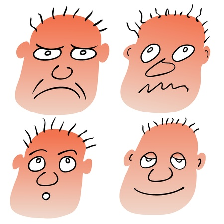 different facial expressions Stock Vector - 13638718
