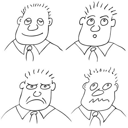 bluster: different facial expressions