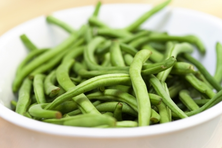bönor: färska gröna bönor - liten skärpedjup