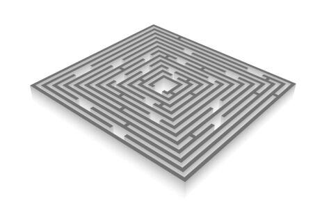 impasse: maze - labyrinth Stock Photo