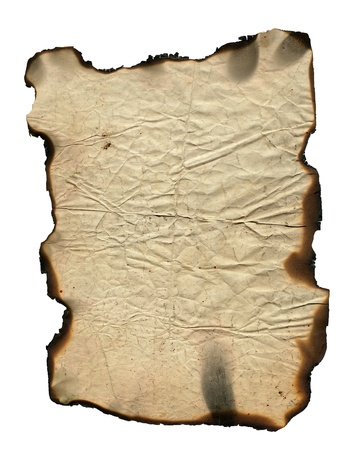 charred: Grunge paper with charred edges - background Stock Photo