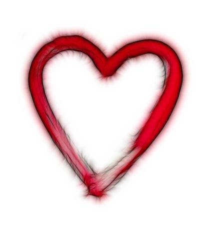furry heart - symbol of love Stock Photo - 15479297