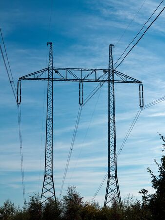 conduction: pylons - high voltage - conduction of energy