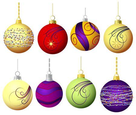 christmas baubles of modern design: Christmas decoration - Christmas balls