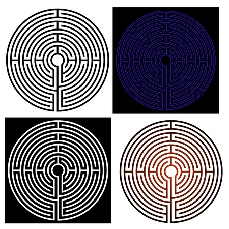 vector maze - labyrinth Illustration